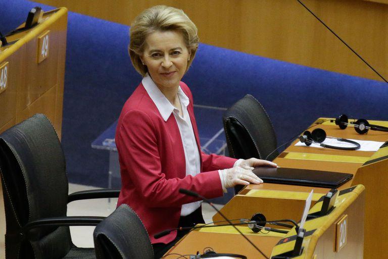 Ursula Von der Leyen, el pasado jueves en el Parlamento Europeo.