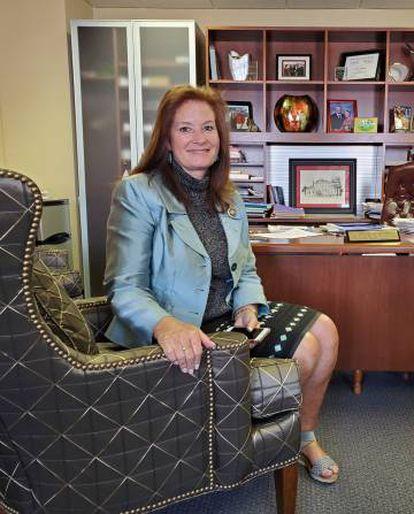 La republicana Terri Colllins, el pasado jueves en su despacho de la Cámara.