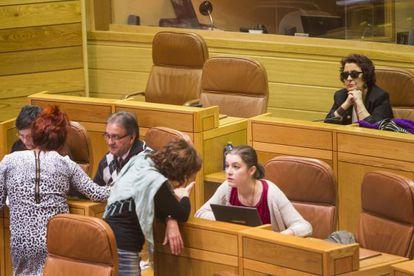 La diputada Carmen Iglesias en su escaño