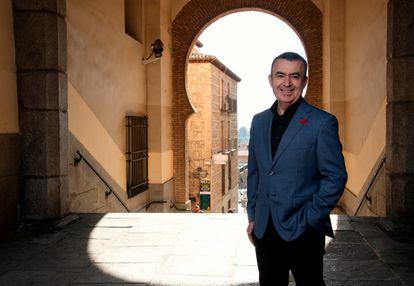 The writer Lorenzo Silva, in Toledo, this Thursday.