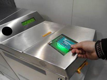 Sistema de validación de la T-Mobilitat.