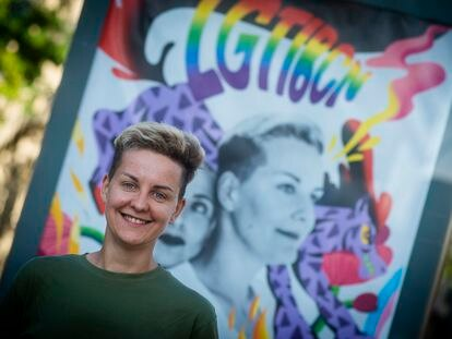 Barcelona, 25/06/2021.  Ekaterina Dvoriadkina refugiada rusa por orientación sexual. (Foto: JUAN BARBOSA)