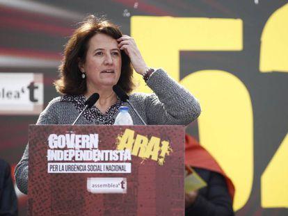 Elisenda Paluzie en un acto de la Asamblea Nacional Catalana.