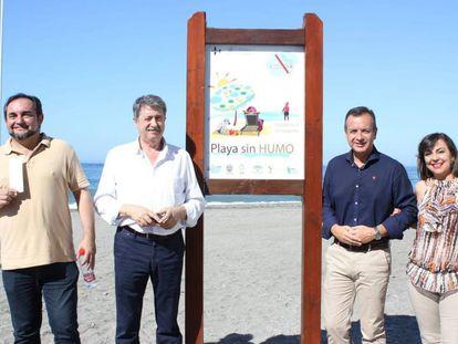 Proclamación de la playa de Motril (Granada) como libre sin humo el pasado 5 de julio.