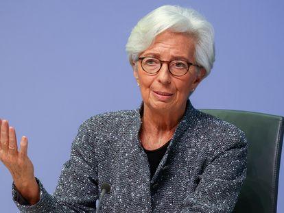 La presidenta del BCE, Christine Lagarde, en Fráncfort, el pasado marzo.