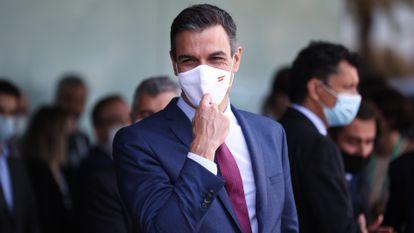 El presidente Pedro Sánchez, el viernes en Barcelona en un acto del Círculo de Economía.
