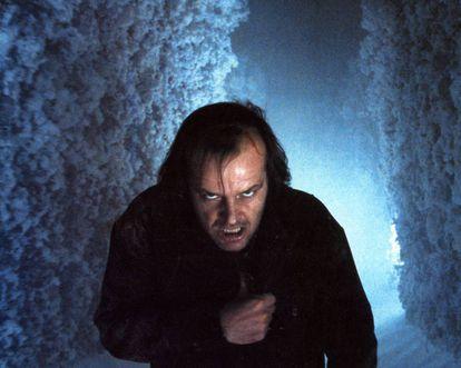 Lo mires por donde lo mires, Jack Nicholson siempre da miedo en 'El resplandor'.
