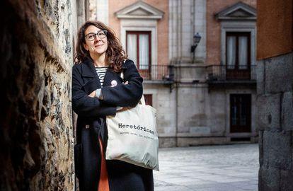 Sara López, de la iniciativa Herstóricas. Hacen paseos por Madrid en donde reivindican la historia de mujeres que no tienen visibilidad.