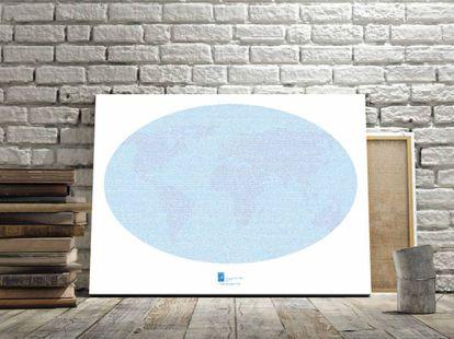 El texto completo de 'La vuelta al mundo en 80 días' en una lámina artística. A la venta en Minimae.com.