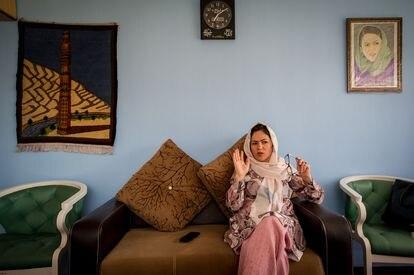 La diputada y activista por los derechos de la mujer afgana Fawzia Koofi, en su despacho el 12 de septiembre de 2019.