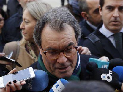 Artur Mas, a la entrada del TS la semana pasada.