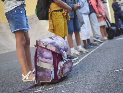 Vuelta al cole en el colegio publico Victor Prader a de Pamplona, con la covid19 como protagonista.