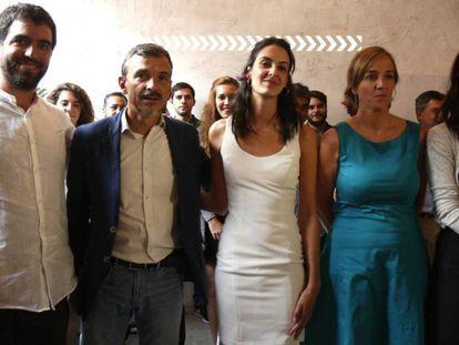 Hugo Martínez Abarca, José Manuel López, Rita Maestre, Tania Sánchez y Clara Serra.