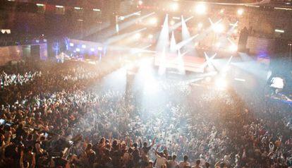 Fiesta de Halloween en el pabellón Madrid Arena, en la madrugada del 1 de noviembre.