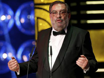 Enrique González Macho, presidente de la Academia del Cine, en la gala de la 29ª edición de los Premios Goya 2015.