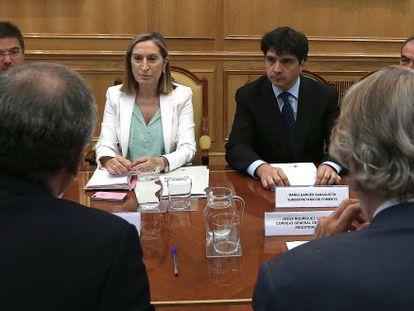 A. Pastor, durante la primera reunión de la comisión técnico-científica ferroviaria el 5 de agosto.