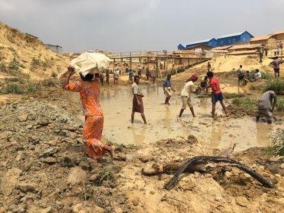 El campo de refugiados de Cox's Bazar (Bangladés), donde las catástrofes climáticas suceden con mucha frecuencia.