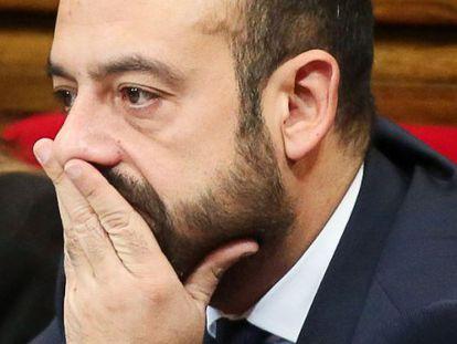 El ex diputado de Ciutadans Jordi Cañas, en el Parlament.