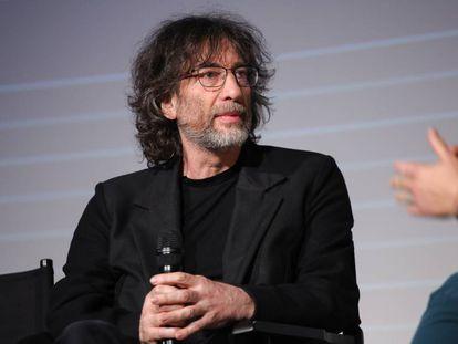 El autor Neil Gaiman, durante la presentación de novedades de Amazon Prime Video en Londres.