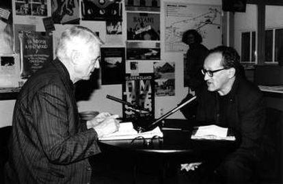 Alexander Kluge, con Heiner Müller, en uno de sus documentales.