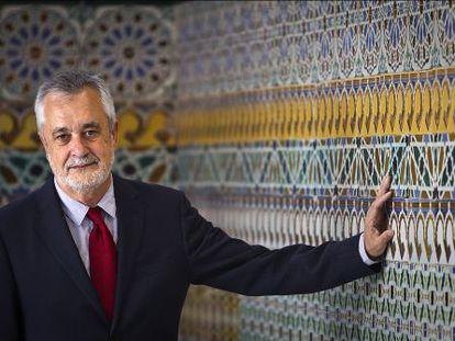 José Antonio Griñán, en el palacio de San Telmo, sede del Gobierno andaluz, el pasado viernes.