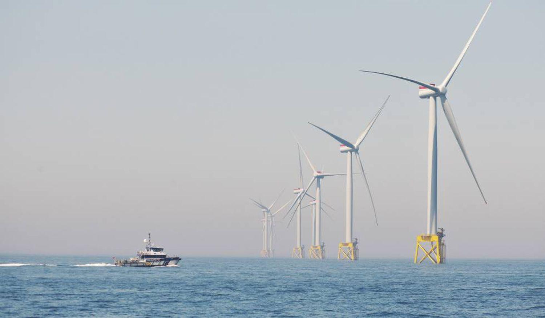 Parque eólico marino East Anglia One de Iberdrola en el mar del Norte.