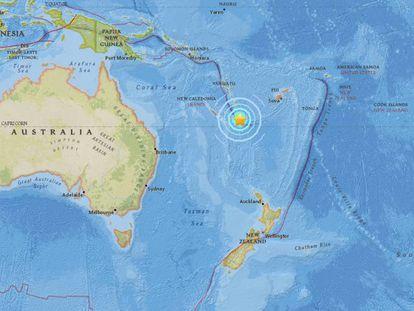 Terremoto en Nueva Caledonia.