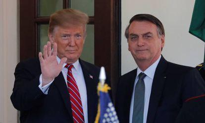 Donald Trump y Jair Bolsonaro, en una imagen de archivo.