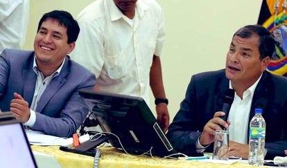 Andrés Arauz y Rafael Correa, en agosto de 2020.