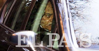 El expresidente de la CEOE Gerardo Díaz Ferrán, tras ser detenido.