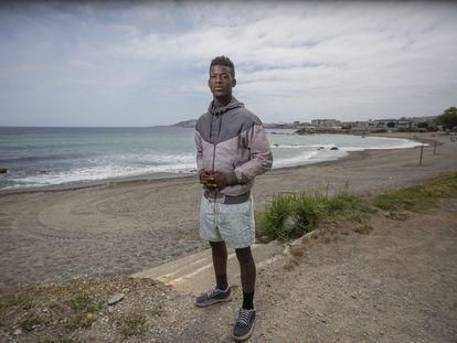 Hassan Kanneh, de 21 años y de Liberia, el viernes en Ceuta.