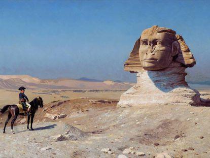 Era conocido que Napoleón, aquí pintado ante la esfinge por Jean-Léon Gérôme, necesitaba muy pocas horas de sueño.