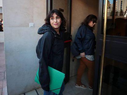 Juana Rivas llega a los juzgados de Granada el pasado 2 de octubre.