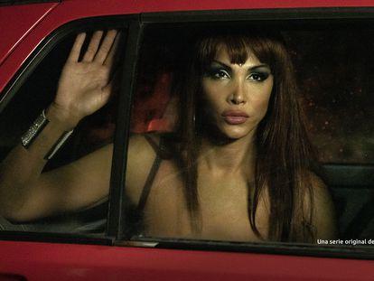 Daniela Santiago, caracterizada como Cristina Ortiz en un instante de 'Veneno'.