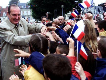 Jacques Chirac en Saint-Amand Montrond near Bourges ( Francia), el 5 de octubre de 2000.