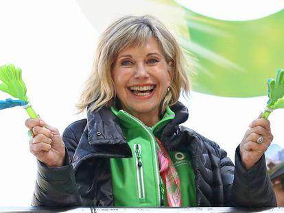Olivia Newton-John el pasado 16 de septiembre en una carrera organizada en Melbourne para recaudar fondos destinados a la investigación del cáncer.