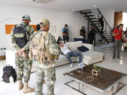 Eduardo Aparecido, tras ser detenido en su casa.