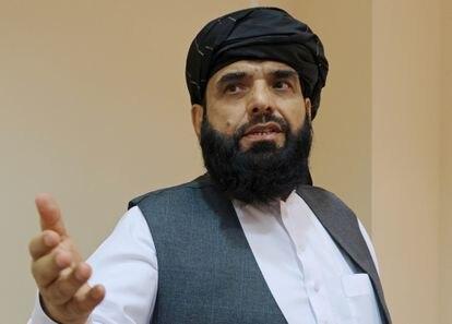 Suhail Shaheen, el embajador ante la ONU nombrado por el régimen talibán, en Moscú el 9 de julio de 2021.