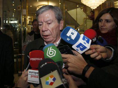 El exministro del Interior José Luis Corcuera, en enero de 2016.