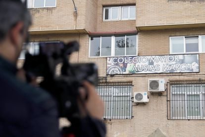 Residencia universitaria Ausias March de Valencia, en la que se ha ordenado el aislamiento preventivo durante diez días.