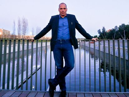Yanis Varoufakis, este sábado en Madrid.