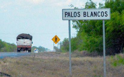 La carretera de Reynosa-San Fernando, en Tamaulipas.