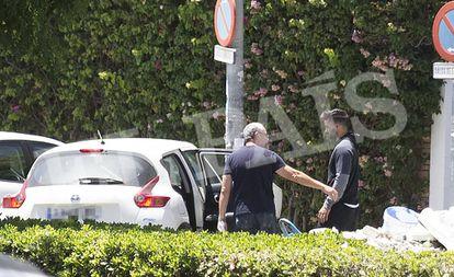 Momento de la detención de Antonio Guerrero, tras conocerse la sentencia del Supremo.