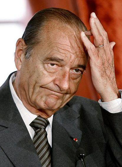 El ex presidente francés, Jacques Chirac