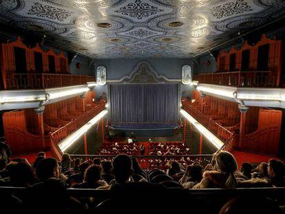 Sala del cine Doré, sede de la Filmoteca Española, en Madrid.