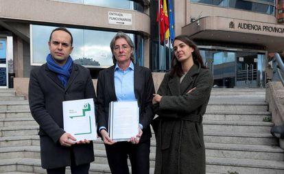 José Manuel Calvo, Marta Higueras y Rita Maestre, ante la Audiencia Provincial en enero de 2020