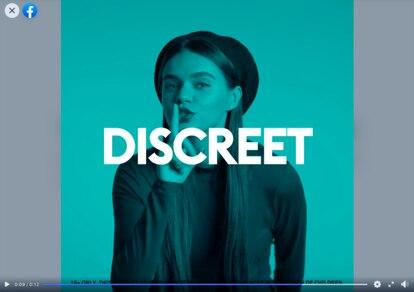 Los anuncios de las bolsas de nicotina de BAT publicados en Facebook enfatizan que el producto es 'discreto'.