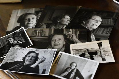 Retratos de la artista Beppo en el archivo sobre esta pintora en la localidad cordobesa de Villa del Río.