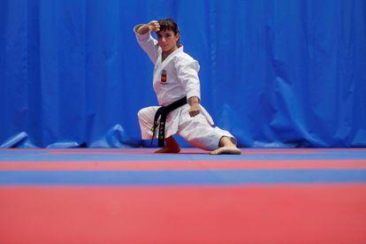 Spanish karate fighter Sandra Sánchez.