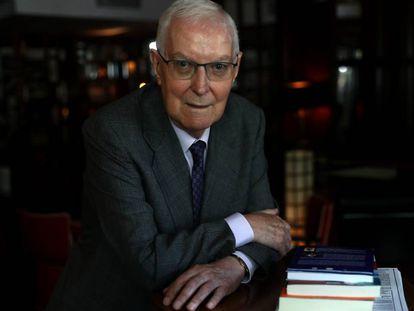 Víctor García de la Concha, este viernes en Madrid durante la entrevista.